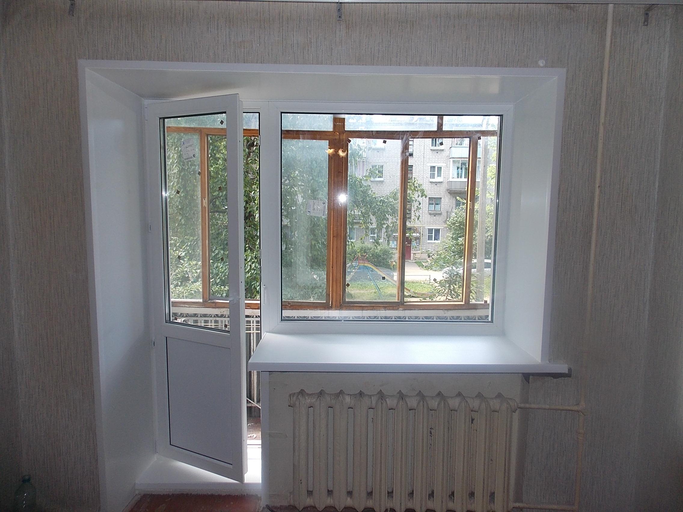 Балконный блок (дверь с окном) в гатчине? жми!.